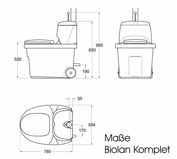 NaturBauHof: Biolan-Komplet Trockentoilette | {Toilette maße 89}